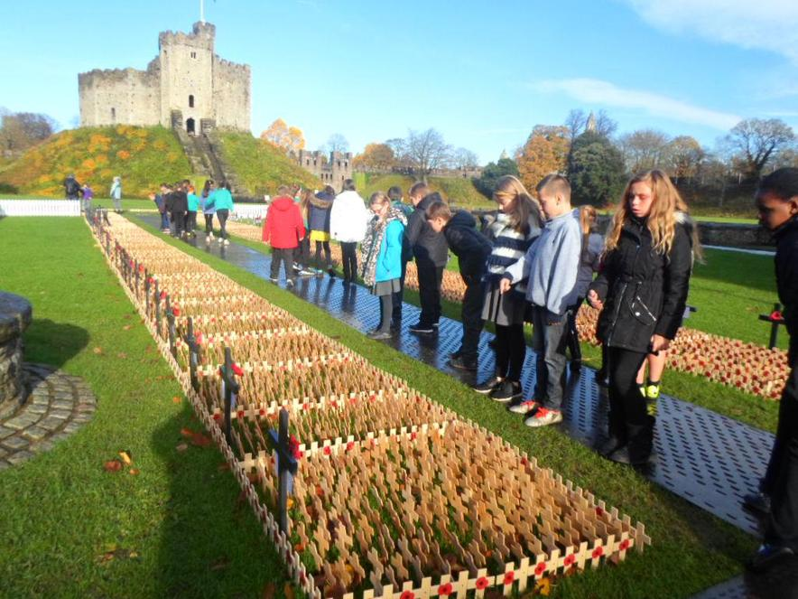 We paid our respects at the 'Remembrance' area.