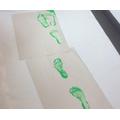 Green foot prints!