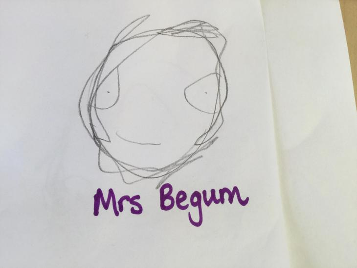Mrs Begum, PSA