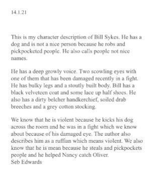 Great description of Bill Sykes, Seb!