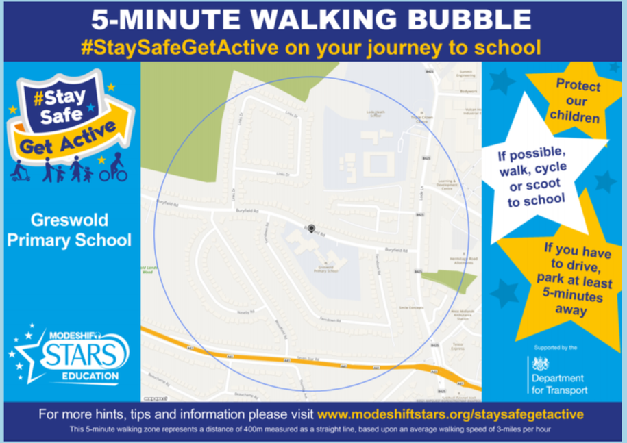 Why not ditch the car and try the 5-minute walking bubble?