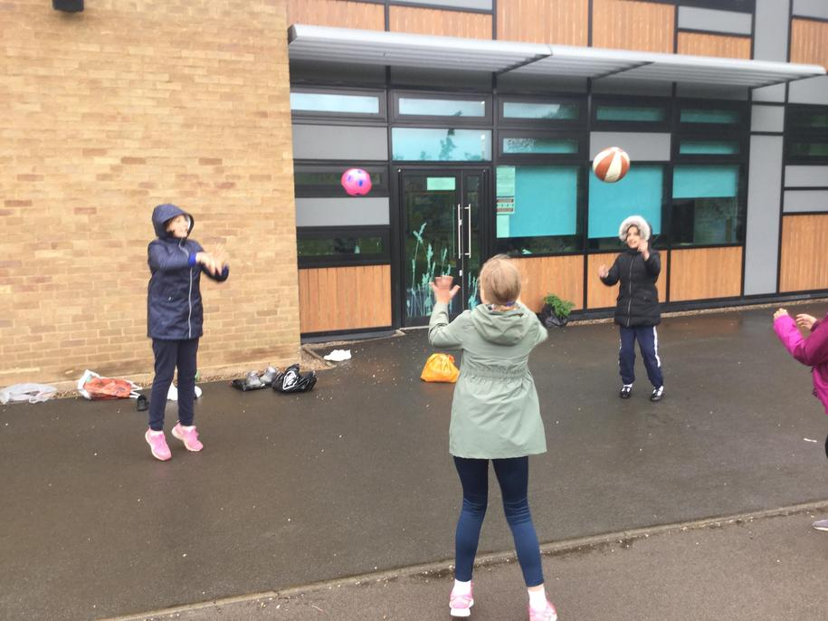 Keeping active in the rain!