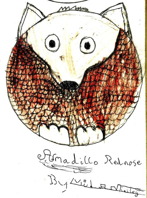 Fantastic red nose, Milan! I love the way you have made them look like armadillo scales.