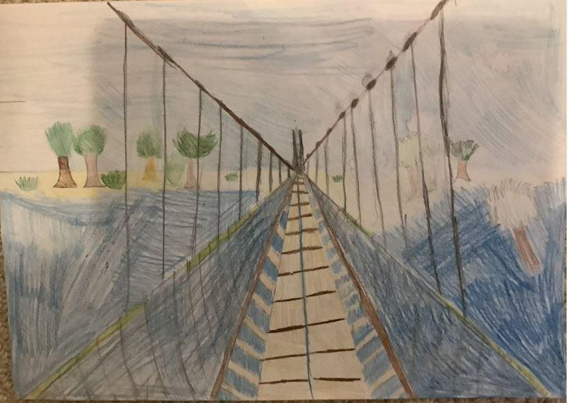 What an amazing perspective piece, Theo! You must have worked really hard!