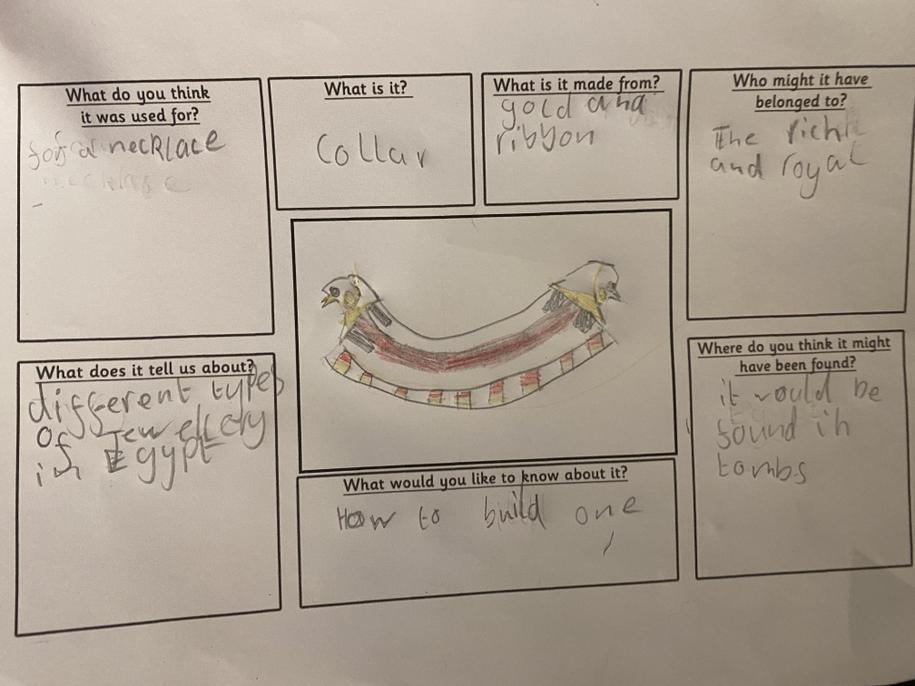 You have thought about both of your artefacts carefully Ciara, well done.