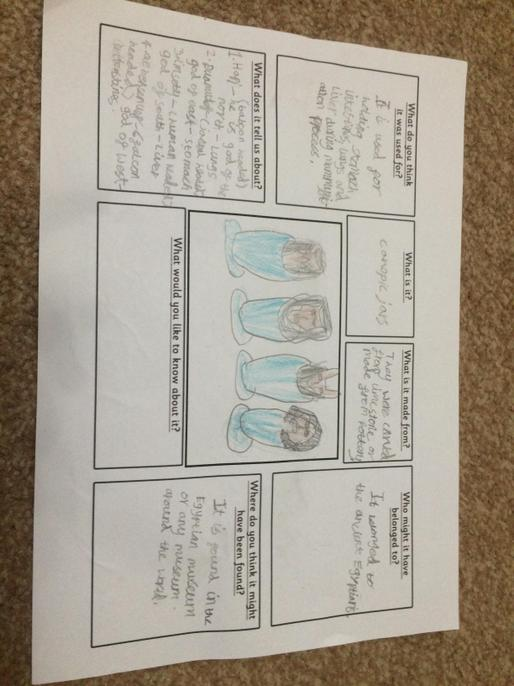 Interesting facts about canopic jars - well done.