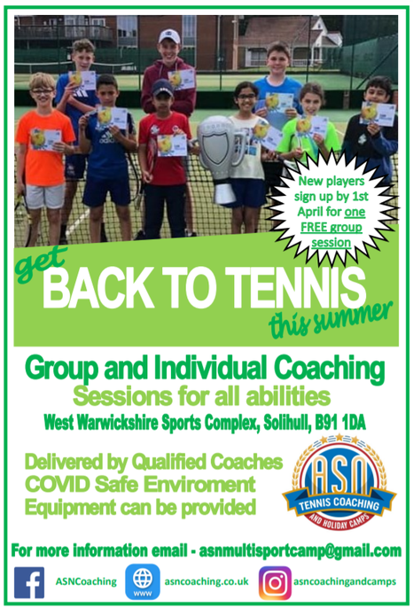 Tennis opportunity