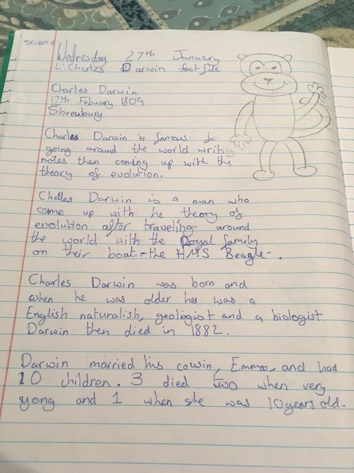 Well done, you have organised this into clear paragraphs with interesting facts.