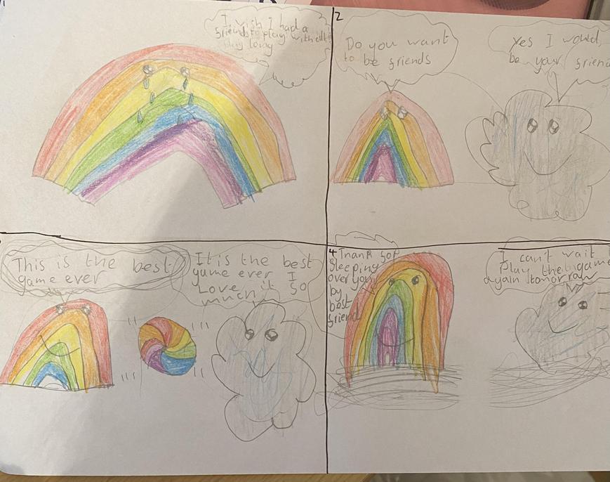 What a colourful comic strip, Ciara.