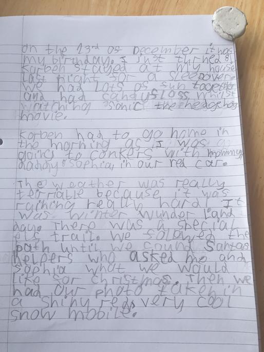 Good use of conjuctions Noah! You have used lots of detail too.