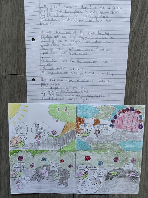 Wonderful comic-strip Millie! Super use of speech. Try different verbs for said.