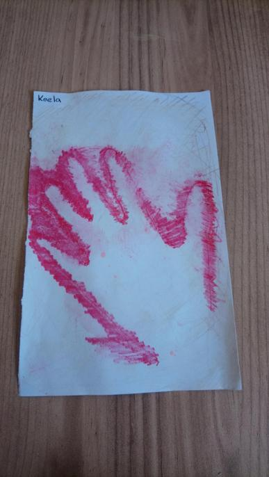 A great cave hand print!