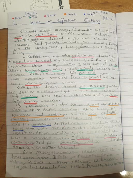 Some great vocabulary choices and description, Marib.