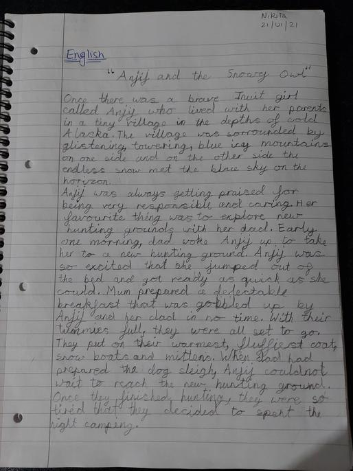 A really clear story start. Well done, Nikita.
