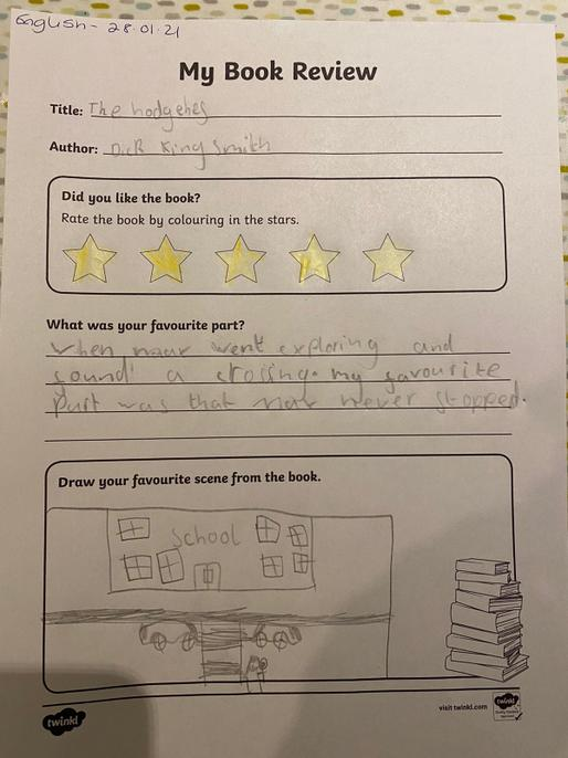 Well done Ciara for your review. I'm glad you enjoyed the book.