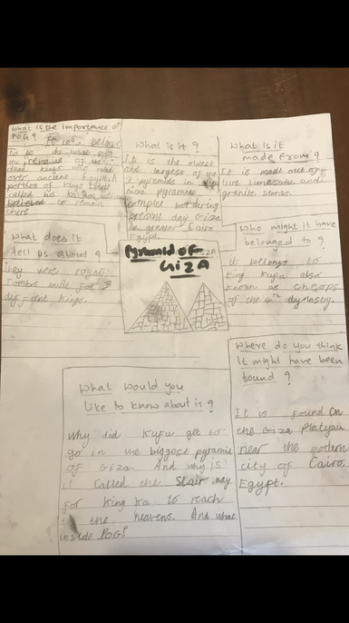 Lots of interesting facts about the pyramids, Samaira - well done.