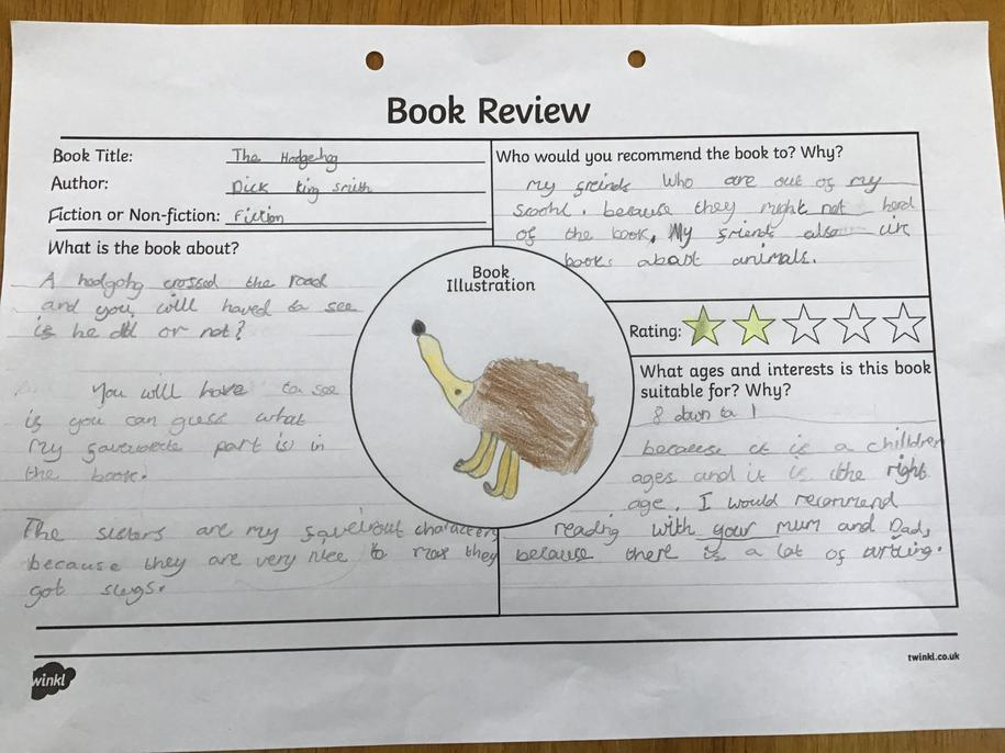 Very detailed Jess, well done. Lovely picture to finish it off!