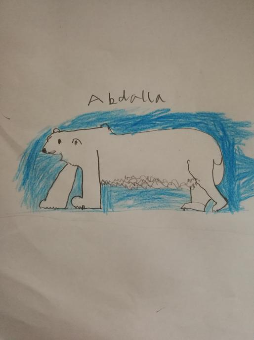 This polar bear looks like he's hunting for food, Abdalla.