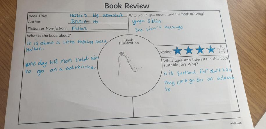 Well done Isabella, you have listened to the story well!