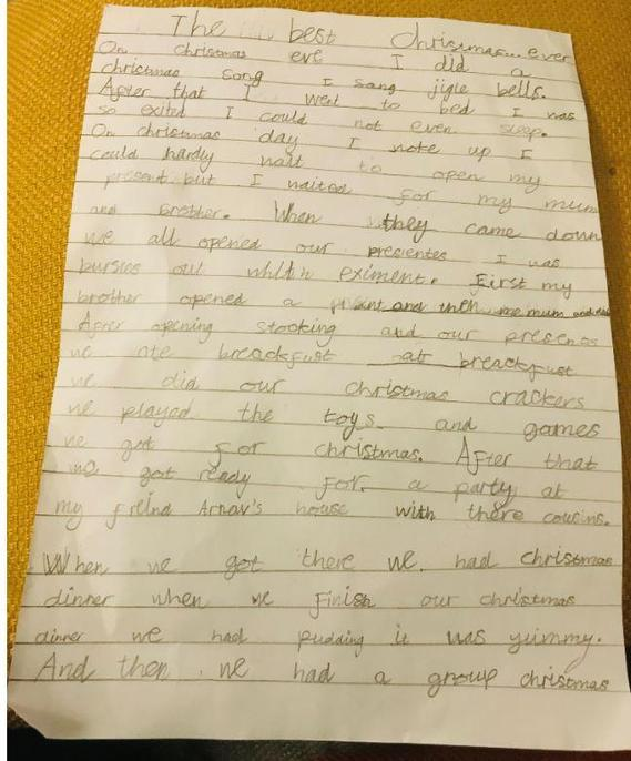 Some good editing for sentences and using I SAW A WABUB.