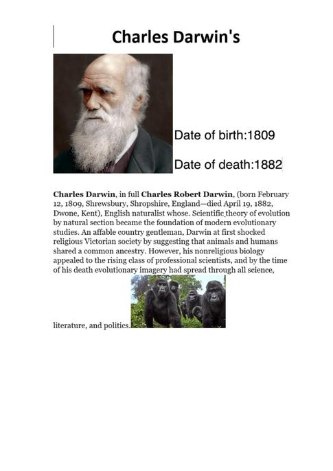 Some interesting facts about his work. Next time remember to include other headings too.