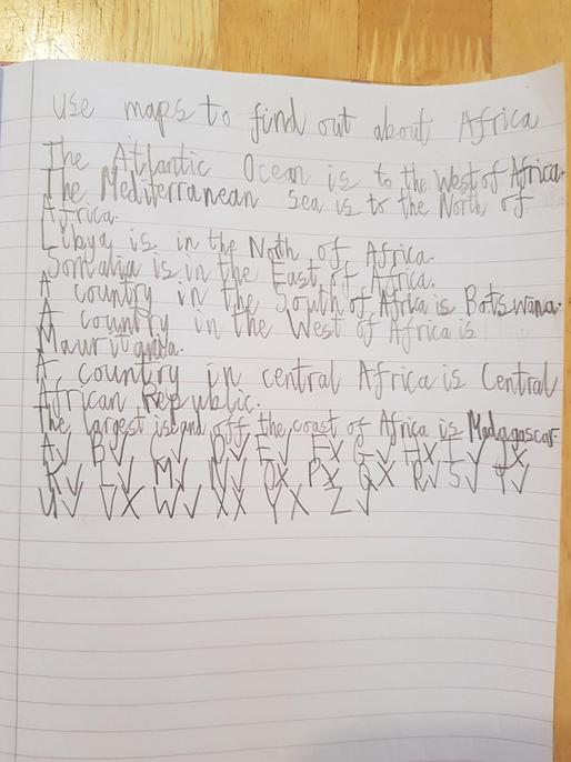 You've found lots of countries in Africa, Annabelle.