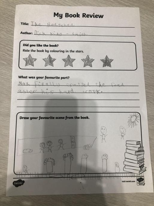 You have worked hard this week to complete both mild and hot Jay - well done!