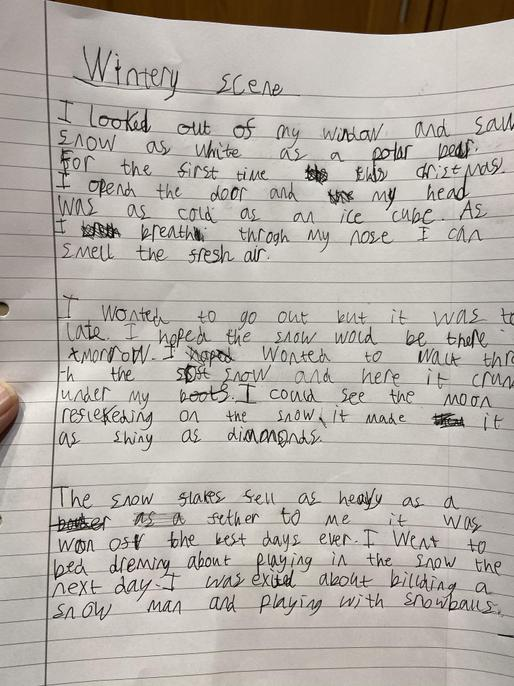 Some great similes, Max - well done.