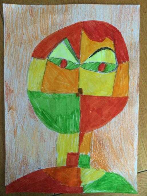 The contrasting colours create a very excited mood here. Super work!