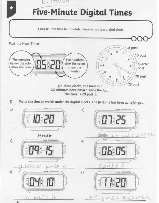 You've got those '5 minute intervals past' sorted.