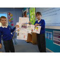 The children working hard on their history project