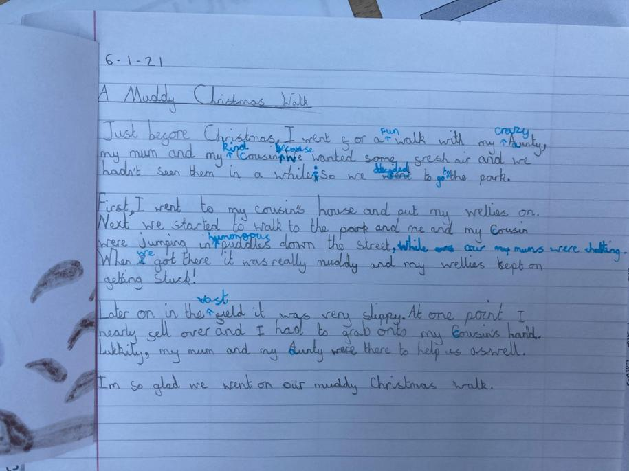 Beautiful handwriting Eva. Good adjectives. Super editing.