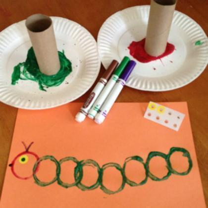 Tube caterpillar craft (8)