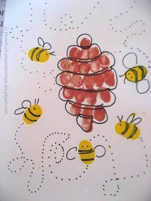 Fingerprint bee and hive (7)