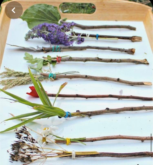Homemade flower and herb paintbrushes (14)