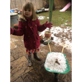 Playing with snow