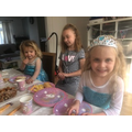 An Elsa birthday party at home!