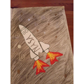 Dylan's space themed art (5P)