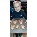 Finished gingerbread men!