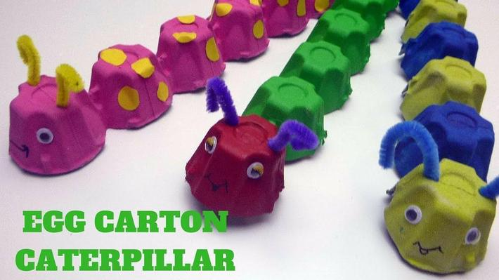 Egg box caterpillar craft (8)