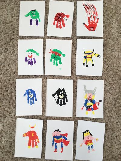 Handprint superheros (11)