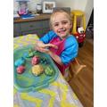 Making playdough food