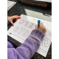 Practising our numbers!