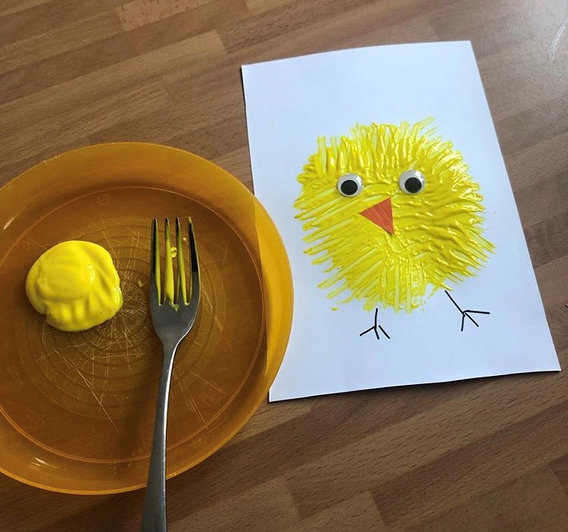 Chick painting