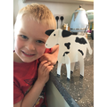 A homemade cow!
