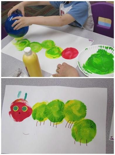 Balloon caterpillar painting (8)