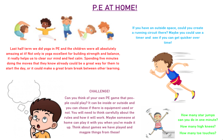 A few fun ideas to get you moving at home.
