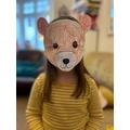 Making a bear mask