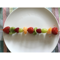 Fruit kebabs!