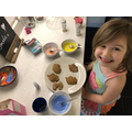 Making and decorating biscuits!